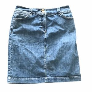Jones New York stretch denim skirt 4
